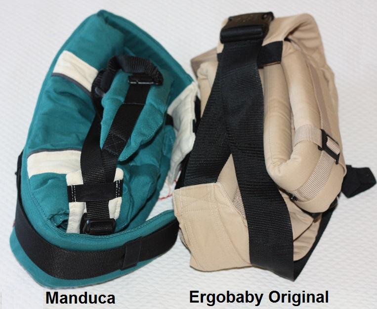 Manduca y Ergobaby plegadas
