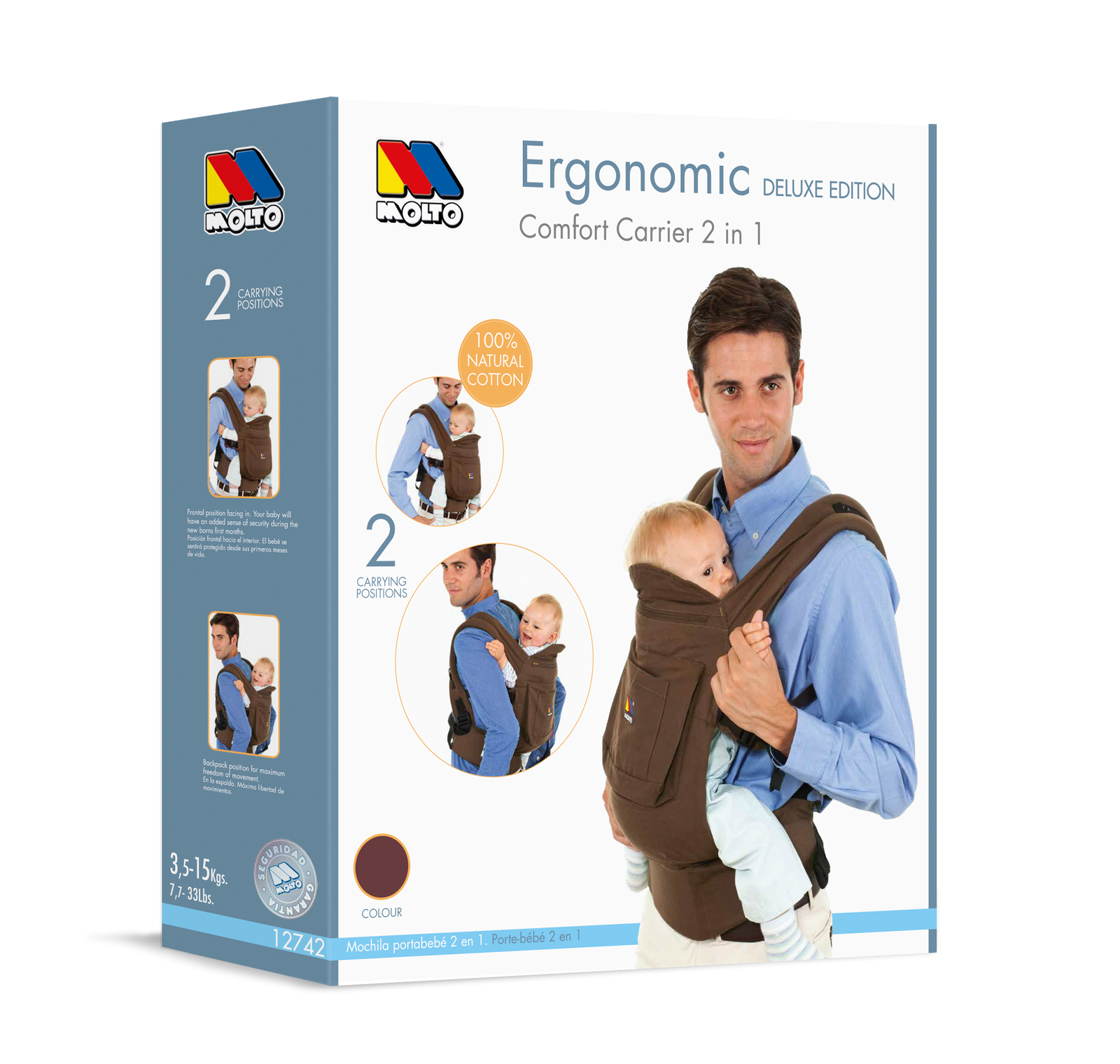 Molto Ergonomic Carrier modelo Chocolate
