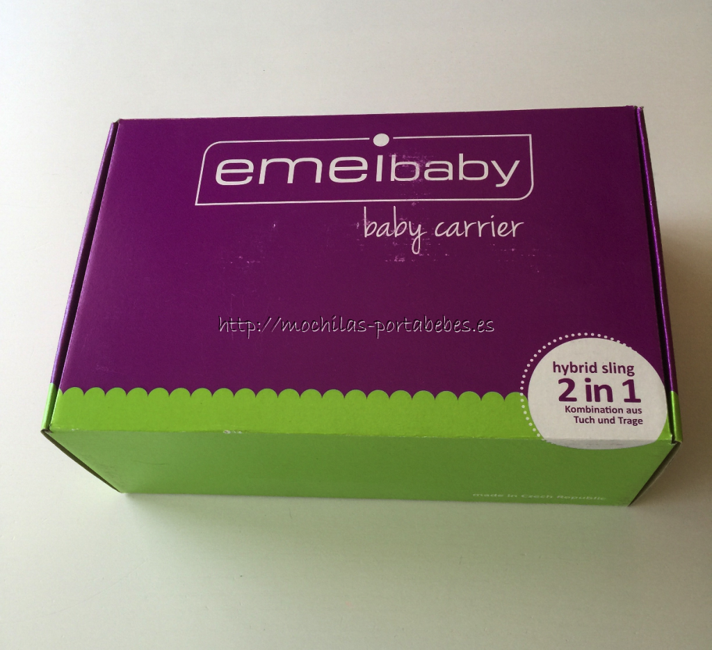 Mochila Emeibaby Toddler Plus detalle de la caja