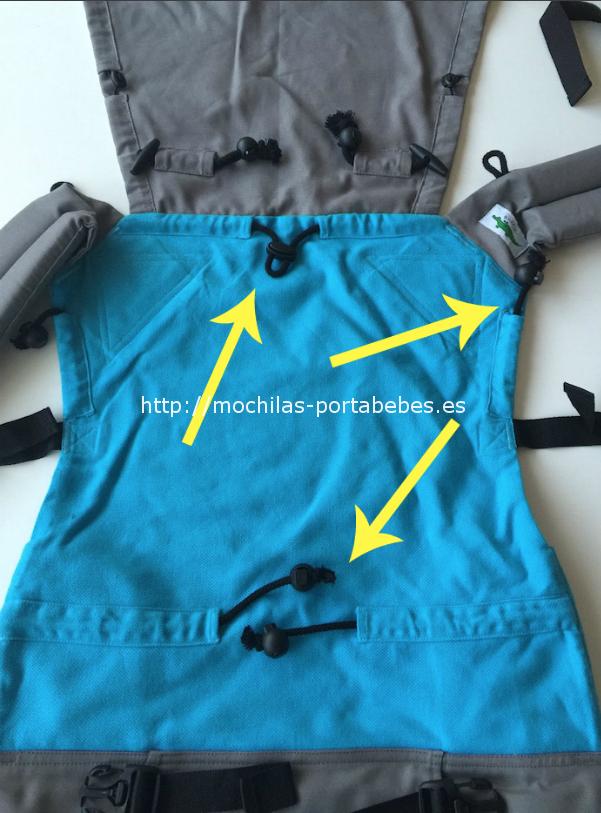 Mochila Buzzidil talla Estándar detalle ajustes