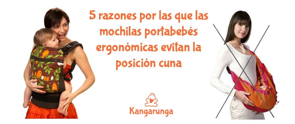 5 razones por las que las mochilas portabebés ergonómicas evitan la posición cuna