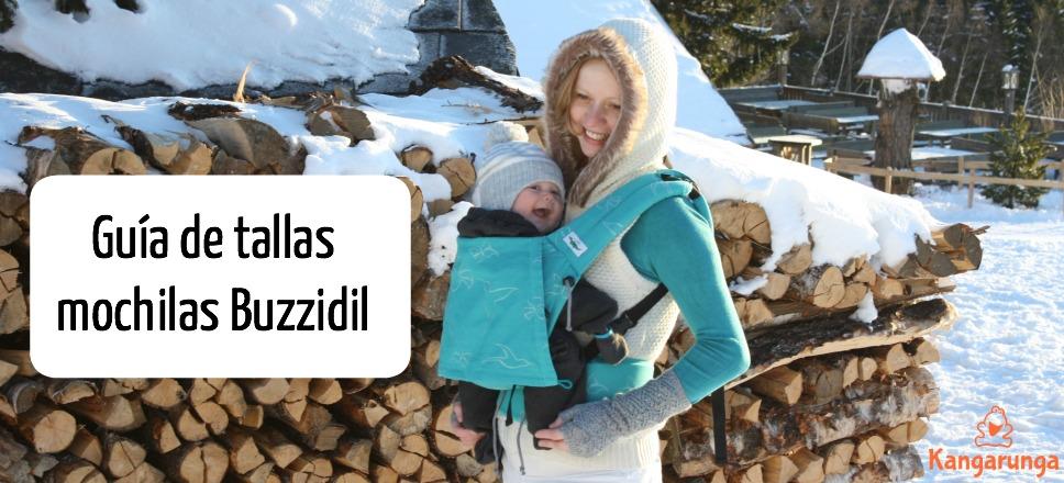 Guía de tallas de las mochilas Buzzidil