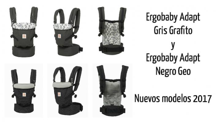 Ergobaby Adapt Gris Grafito y Ergobaby Adapt Negro Geo: nuevos modelos 2017
