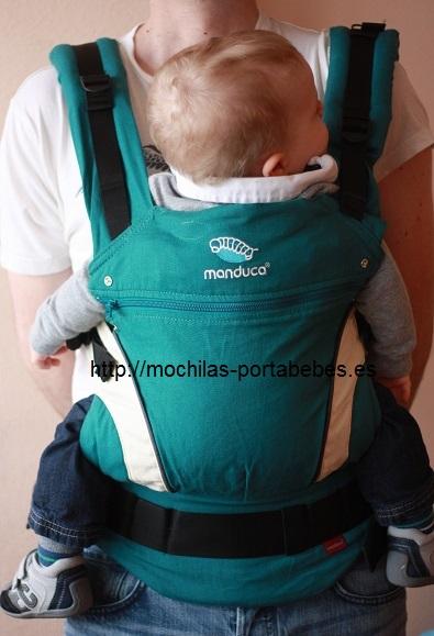 Manduca porteador masculino y bebé 11 meses