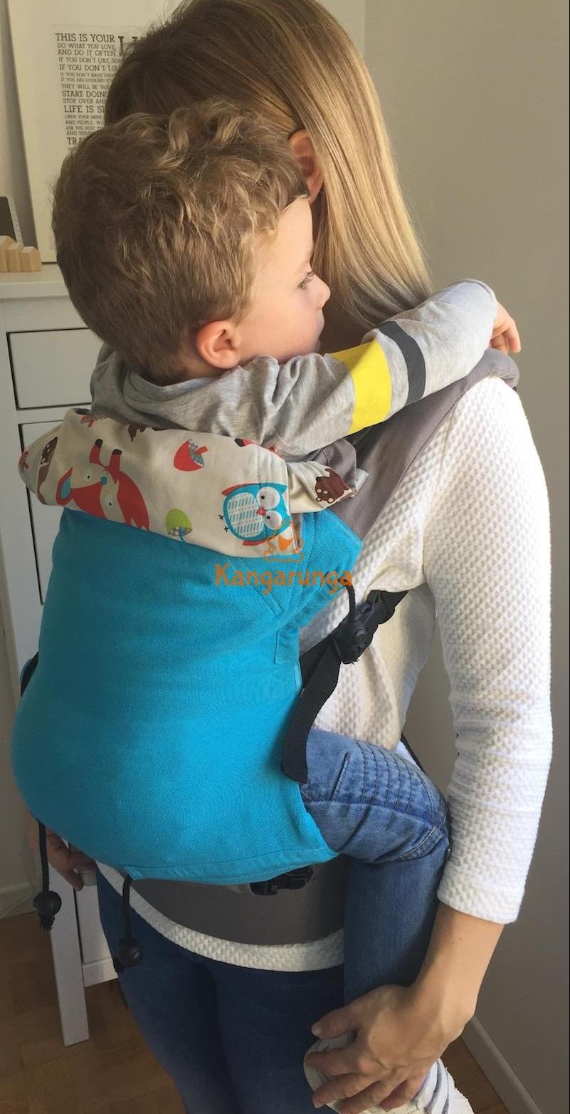 Mochila Buzzidil talla estándar con toddler vista lateral