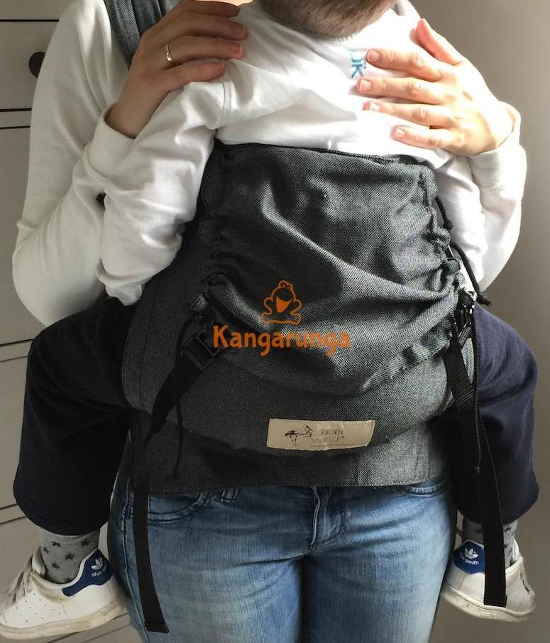 Mei-chila Storchenwiege con niño 14 kilos